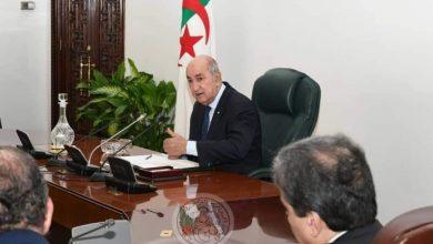 Photo of رئيس الجمهورية يبحث تطور الوضعية الصحية في البلاد غدا الأحد