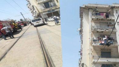 Photo of انهيار طابقي عمارة بحسين داي والوالي يقف عليه : «الحماية المدنية تخرج رضيعة من تحت الأنقاض»