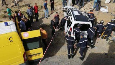 Photo of وفاة 4 أشخاص وإصابة آخر في اصطدام سيارة وشاحنة ذات مقطورة بالمسيلة