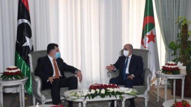 Photo of رئيس الجمهورية عبد المجيد تبون، يستقبل رئيس المجلس الرئاسي لحكومة الوفاق الليبية فائز السراج
