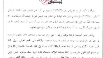 Photo of وزارة الداخلية..تمديد فترة الحجر الصحي في بلديات ورقلة