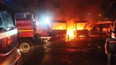 """Photo of حريق في المرآب الرئيسي لمؤسّسة النقل الحضري""""إيتوزا"""" بخروبة"""