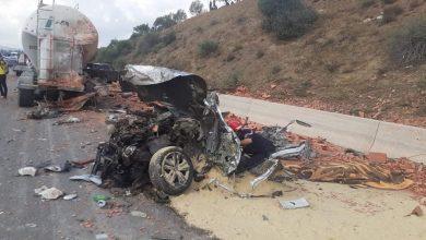 Photo of مصرع صينيين في حادث مرور بالطريق السيار في غليزان