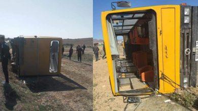 Photo of المسيلة: إنقلاب حافلة لنقل التلاميذ ببلدية الدهاهنة
