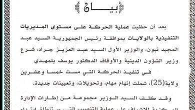 Photo of مست 25 ولاية… وزير الشؤون الدينية يجري حركة تغييرات