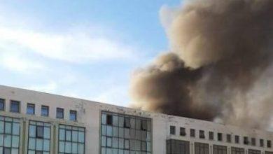 """Photo of إخماد الحريق الذي نشب بالمركز التجاري """" المهناوي"""" بسطيف"""