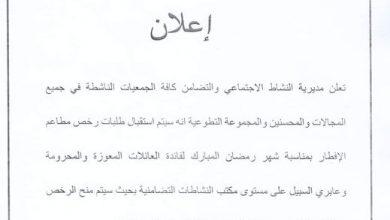 Photo of وهران.. الشروع في إستقبال طلبات رخص فتح مطاعم الرحمة