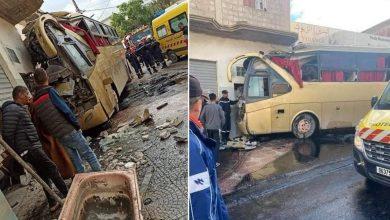 Photo of أم البواقي: إنحراف حافلة لنقل المسافرين واصطدامها بمنزل أرضي يُخلّف 16 جريحا