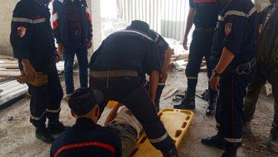 Photo of سقوط عامل من ورشة بناء في سيدي بلعباس