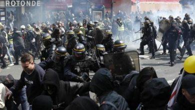 Photo of فرنسا تحتجز العشرات في احتجاجات حاشدة بيوم العمال