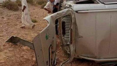 Photo of وفاة إمرأة وإصابة 5 آخرين في حادث انقلاب سيارة بالمسيلة