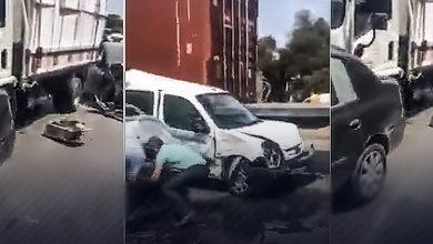 Photo of هذه مخلّفات حادث تصادم السيارات ببئر توتة في العاصمة