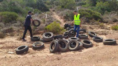 Photo of إزالة عجلات مطاطية من أربع غابات بولاية مستغانم